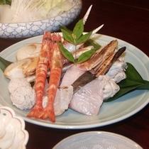 寄せ鍋の海鮮