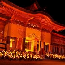 穂高神社 神竹灯