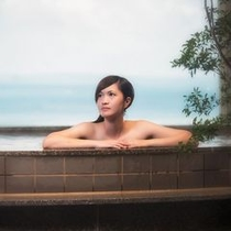 温泉 天然温泉さしきの 猿人の湯 浴槽内