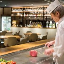 *レストラン/鉄板焼きライブキッチン 長野県ならではの美味しさをあつあつ!出来立て!でご堪能下さい♪