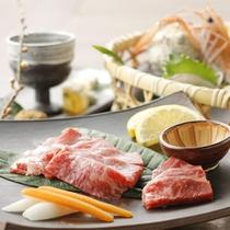【季節の懐石料理一例 伊豆和牛】