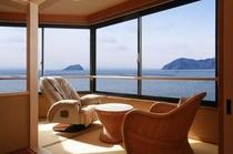 305号室より竹生島