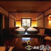 【古民家風】〜湧水(YUSUI)〜寝室(ツイン)