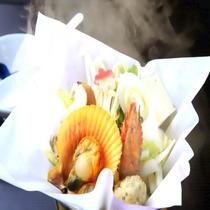 海鮮鍋の一例