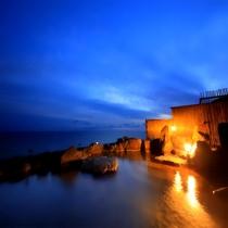 夕方の露天風呂