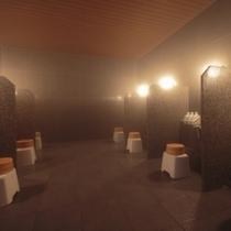 【祈りの湯(地下1階)】洗い場