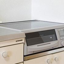 キッチン付き客室は全室IHで安全!