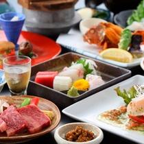 ☆【つつじ膳】有明海の「海の幸盛り」と「熊本県産味彩牛鉄板焼き」