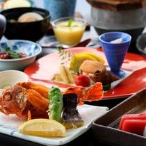 ☆【菊膳】有明の香り豊かな「朱皿」と季節を感じる「味わい鍋」