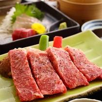 【熊本県産味彩牛のステーキ】