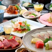 ☆【さつき膳】大皿に華やぐ「有明の味」と旬の素材の活きた「匠の彩り八寸」