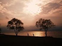 天神浜の夕景は絶景!