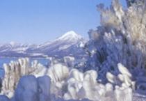 天神浜冬の風物詩のしぶき氷