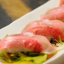 【夕食一例】金目鯛のにぎり鮨