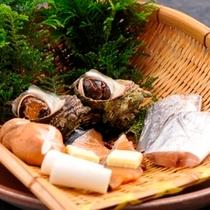 【夕食一例】石花海の名物「漁師焼き」