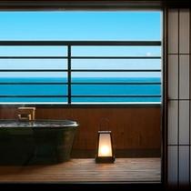 【オーシャンビュー】露天風呂付和室10畳