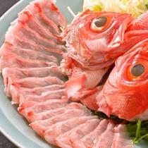 【夕食一例】新鮮な金目鯛だけを使用!金目鯛のしゃぶしゃぶ