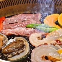 """【夕食一例】石花海名物""""漁師焼き"""""""