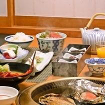 【朝食一例】金目鯛の味噌焼やアジの干物は絶品!