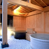 【陶磁器露天風呂】信楽焼の陶器風呂『星のささやき』と『月のほほえみ』