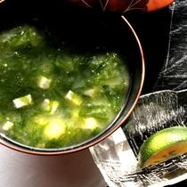 【朝食一例】朝から暖かいお味噌汁でほっこり♪