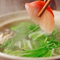 *ご夕食(金目鯛しゃぶしゃぶ:2014冬)