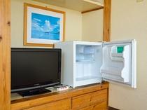 テレビ&冷蔵庫完備です。