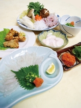 ふぐ鍋コース料理
