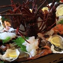 【秋冬限定】伊勢海老と牡蠣の船盛
