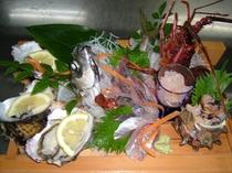 わらさと牡蠣のお造り