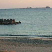 ひろの浜夕日