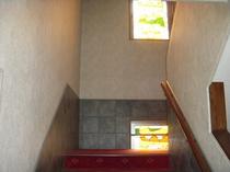 階段(ステンドグラス)