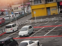 第2駐車場(上空から撮影)赤枠内