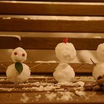 【冬】雪だるまを親子で作ってみませんか?
