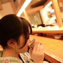【館内】秋田の地酒をしっぽりと。