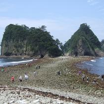 三四郎島のトンボロ現象