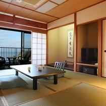 【標準和室】海一望広縁+10畳+踏み込み3畳
