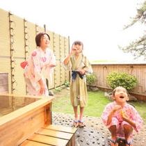 露天風呂と庭園付き客室