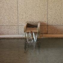 『二輪草』内風呂の湯口