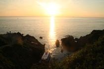 越前海岸 東尋坊 夕日
