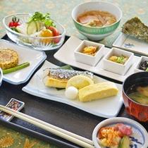 【和朝食一例】朝食は和定食か洋定食かお選びいただけます。朝食しっかり派は和食がおすすめ♪