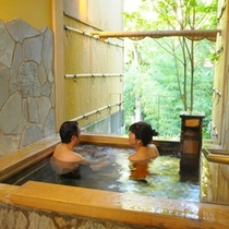 夫婦2人でゆったり貸切風呂