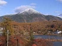 蓼科山の雪化粧