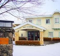 冬のホテル正面