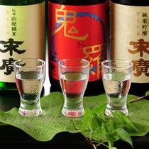 会津の地酒3種類を飲み比べ 利き酒梅コース