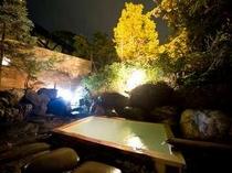 夜の露天風呂(殿方)
