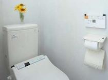 男女別のパブリックトイレはウォシュレットタイプ有り