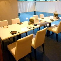 楽山楽水 店内◆椅子のお席もございます。