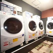 洗濯から乾燥まで500円。洗剤持ち込み不要。洗濯のみ、乾燥のみのコースもございます。