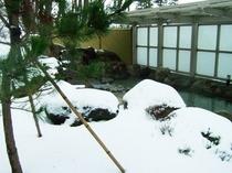 露天 女 雪景色